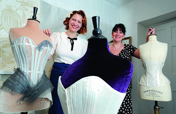 thisisoxfordshire: Julia Bremble, right, and one of the event's international contributors, corset maker Gerry Quinton, from Chicago, who owns Morua Designs