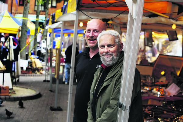 Gloucester Green market traders Gary Merrill, left, and Peter Forbes
