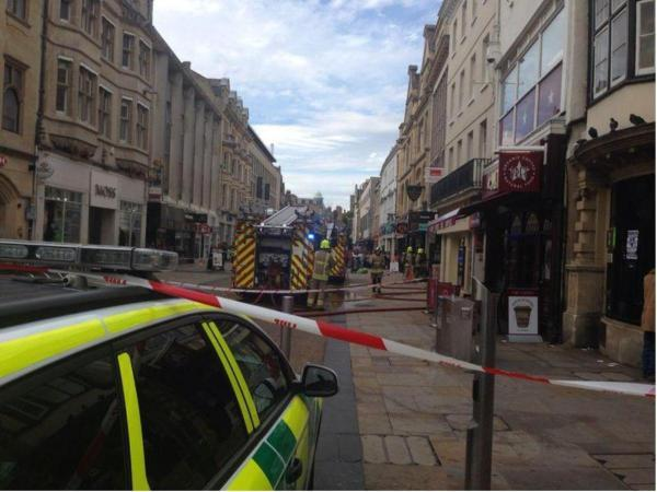 Fire in Covered Market closes part of Cornmarket Street