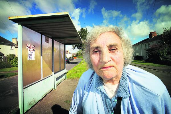 Marie Smith, who lives in Mill Lane, is backing calls for a better bus service 			        Picture: OX69342 Damian Halliwell