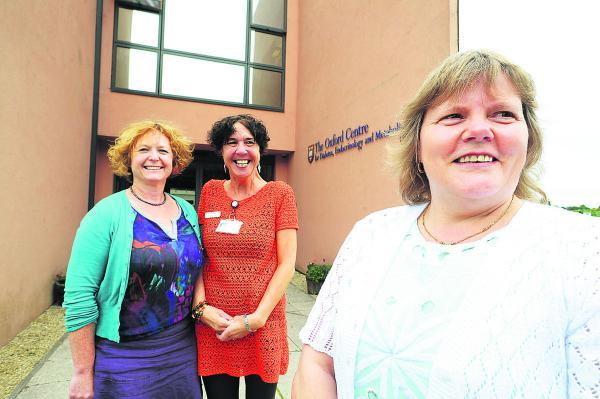 thisisoxfordshire: Dr Katharine Owen, left, and specialist nurse Amanda Webster, centre, have been nominated as Hospital Heroes by Audrey Woodcock, right