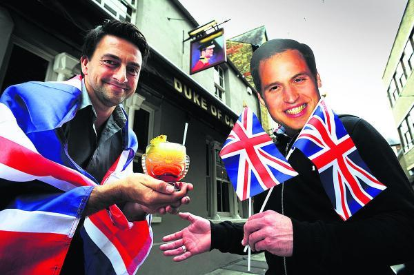 thisisoxfordshire: Bar manager Roberto Losito, left, is hoping to lure Prince William, AKA colleague Chris Ryder, with a cocktail when Wills and Kate visit