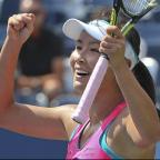 thisisoxfordshire: Peng Shuai reached her first grand slam semi-final at the 37th attempt (AP)