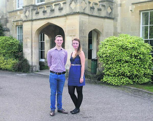 Alma mater: James Lloyd and Jemma Phibbs at Wheatley Park School