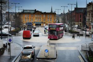 If Queen Street closes to buses, an alternative route through Frideswide Square- with a U-turn at the railway station roundabout, has been proposed. Picture by Jon Lewis