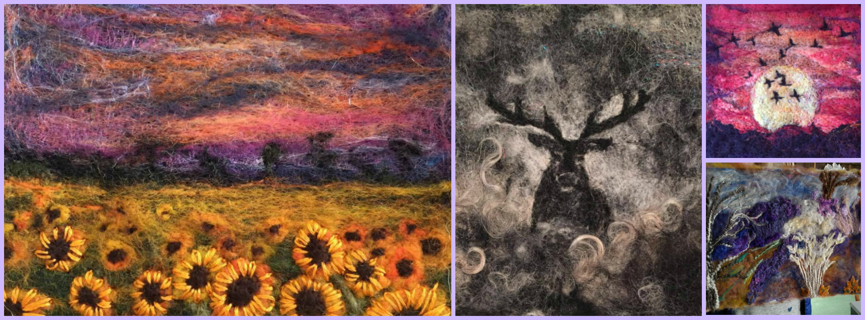 Needle Felted Landscapes