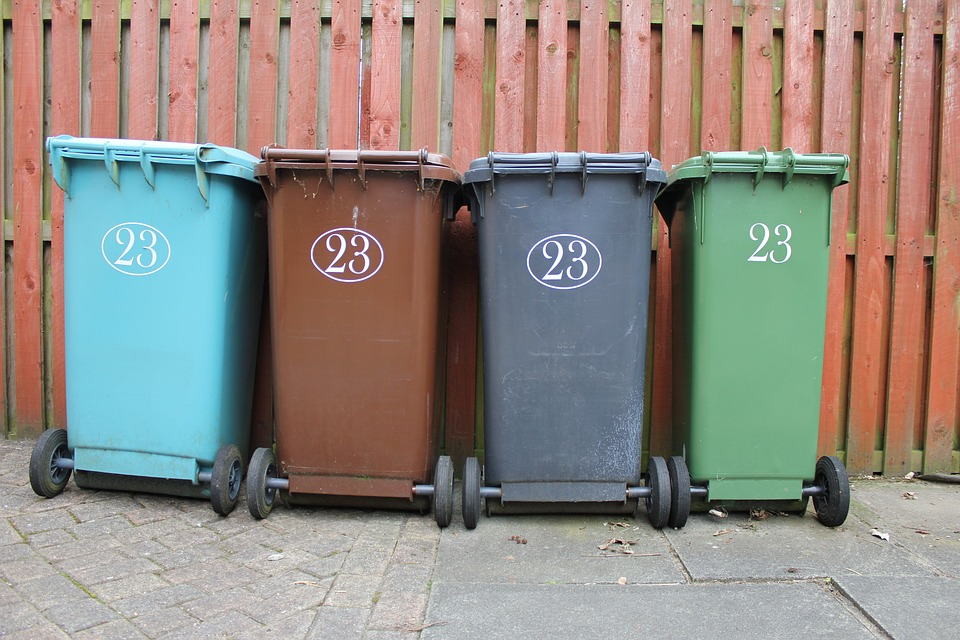 Recycling bins - stock image