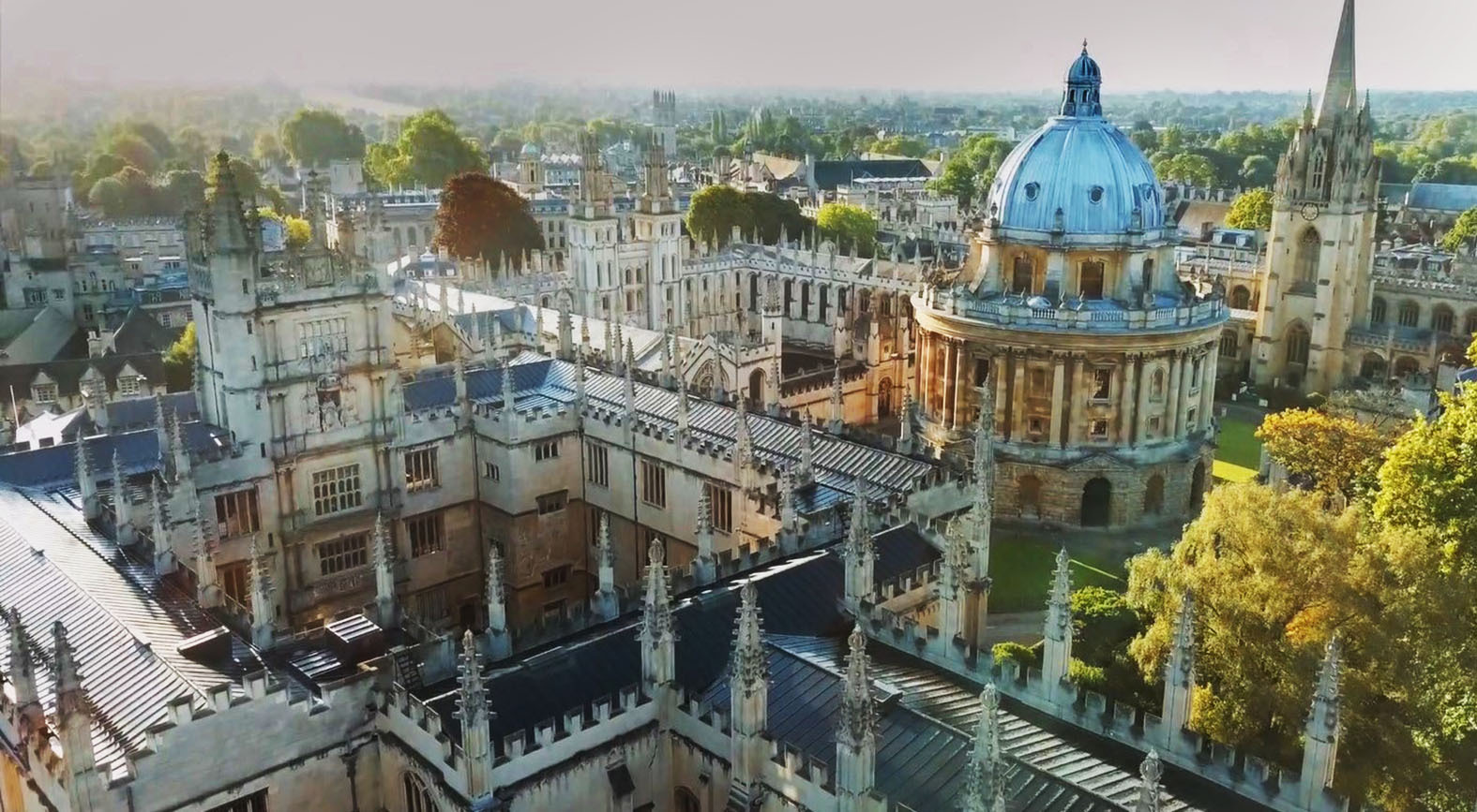 Oxford skyline by Stephen Kailey.Picture shows the Bodleian Library on the left, the Radcliffe Camera in the middle and the University Church of St Mary the Virgin on the right..