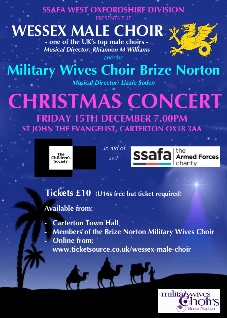 Christmas Concert with Wessex Male Voice choir and the Military Wives Choir Brize Norton