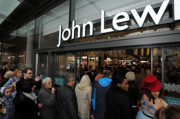 thisisoxfordshire: Shoppers outside John Lewis at the Westgate Centre in Oxford. Picture Jon Lewis