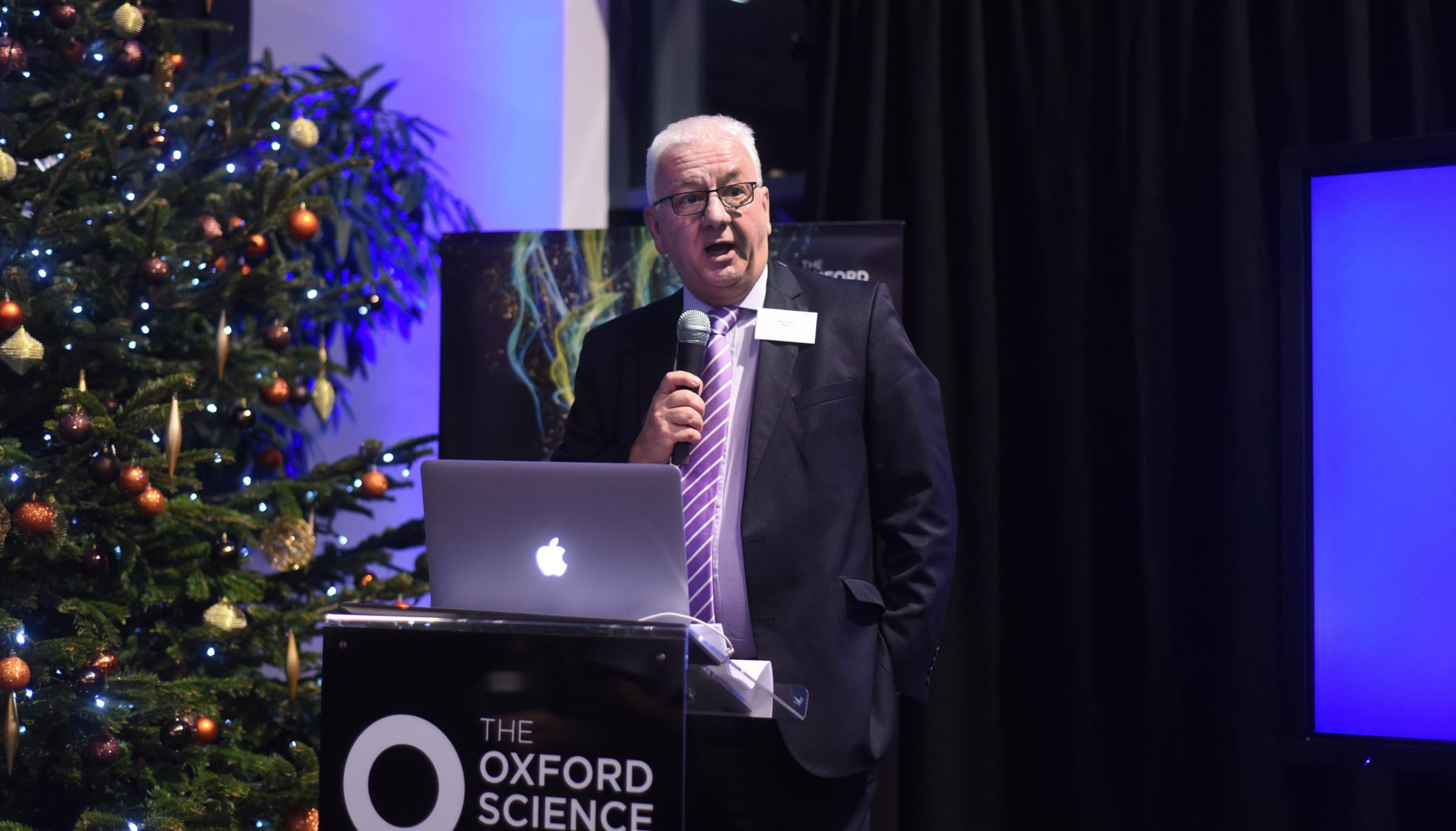 Oxfordshire Business Awards chairman Paul Lowe launches the 2018 Oxfordshire Business Awards at The Sadler Building, Oxford Science Park. Picture Richard Cave