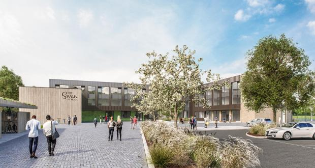 thisisoxfordshire: Initial designs detailing what the new Swan School could look like. Pic: Infinite 3D Ltd/ Galliford Try