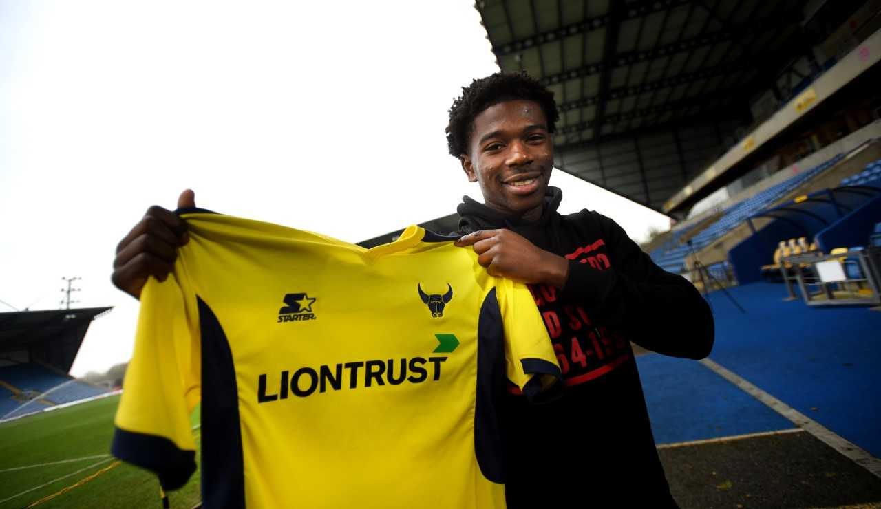 Isaac Buckley-Ricketts at the Kassam Stadium after signing on loan for Oxford United  Picture: Richard Cave