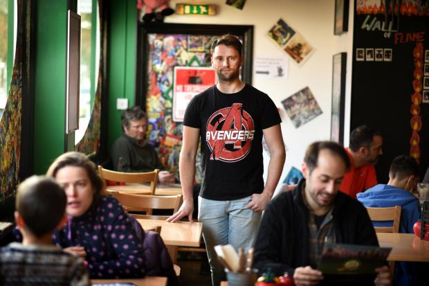thisisoxfordshire: Liam Wain, manager of Atomic Burger. Picture by Richard Cave.