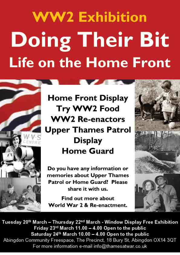 Doing their Bit, Life on the Home Front Exhibition