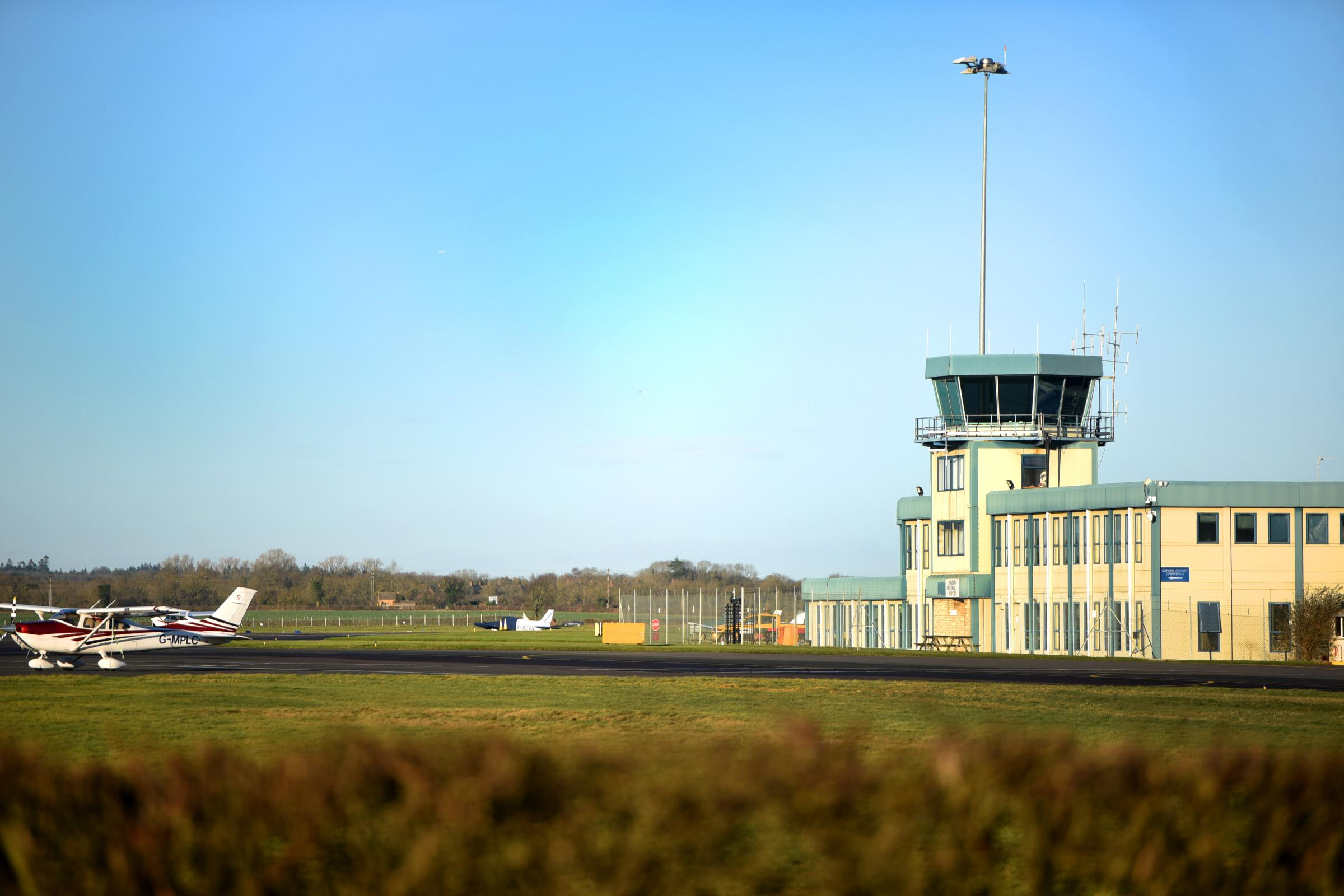 Disruption after fire at Oxford Airport