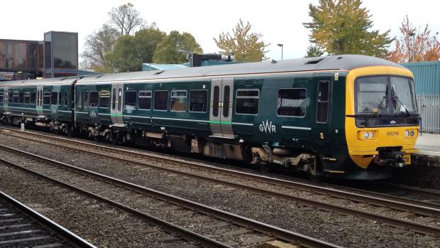 thisisoxfordshire: Pictures a Great Western Railway Class 166 DMU in the new livery..pictured at oxford railway station.2015..