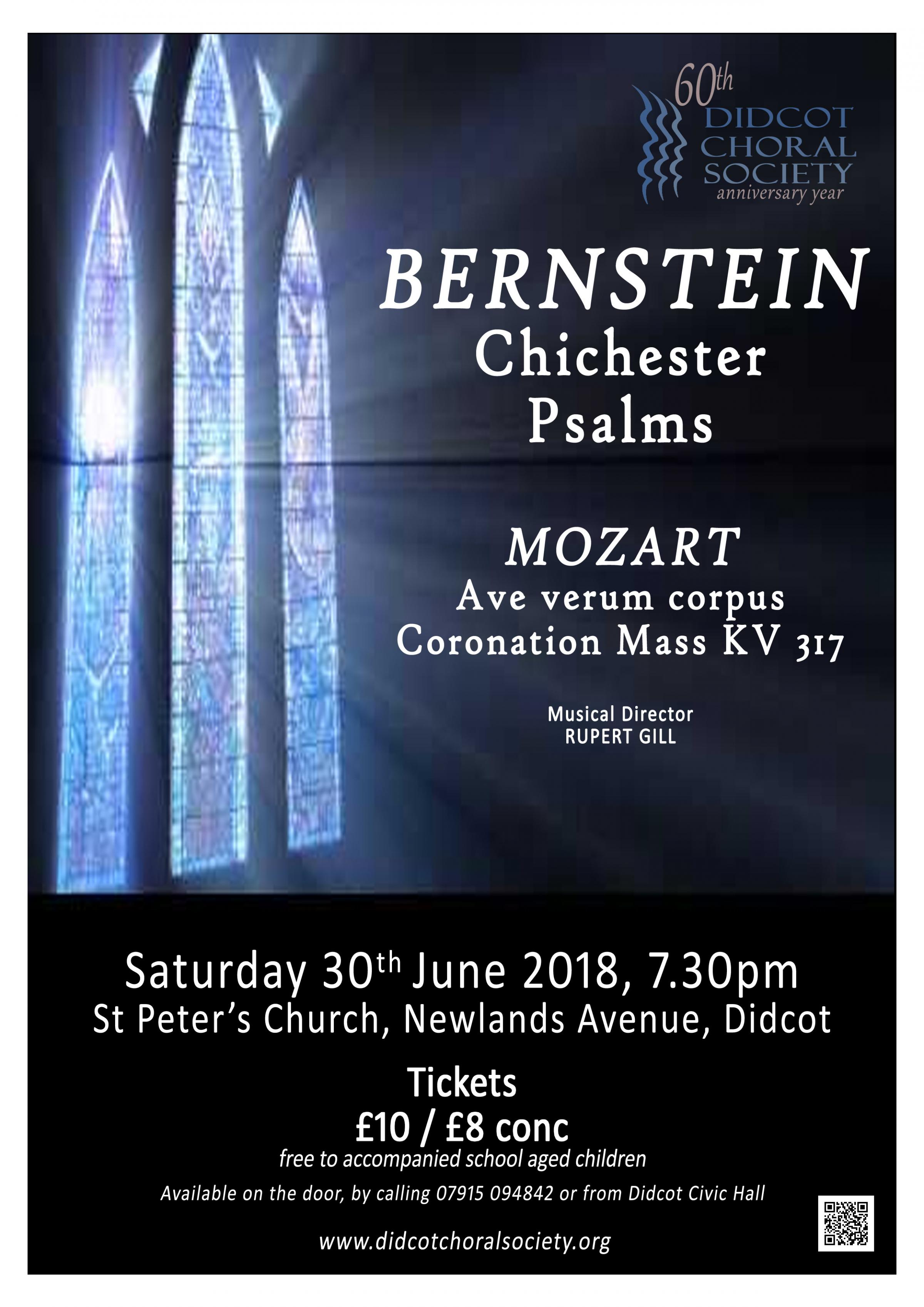 Didcot Choral Society: BERNSTEIN Chichester Psalms and Mozart