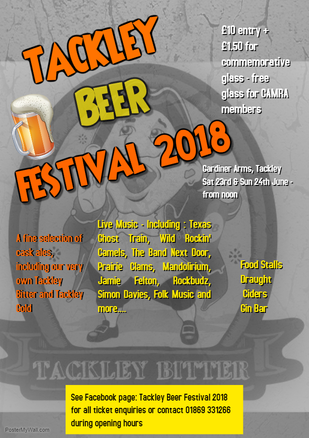 Tackley Beer Festival 2018