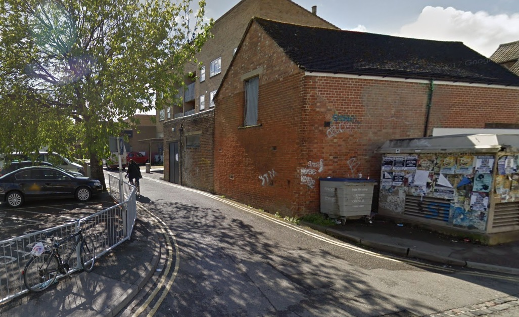 The back of Tesco off Cowley Road where a woman was raped nearby. Picture - Google