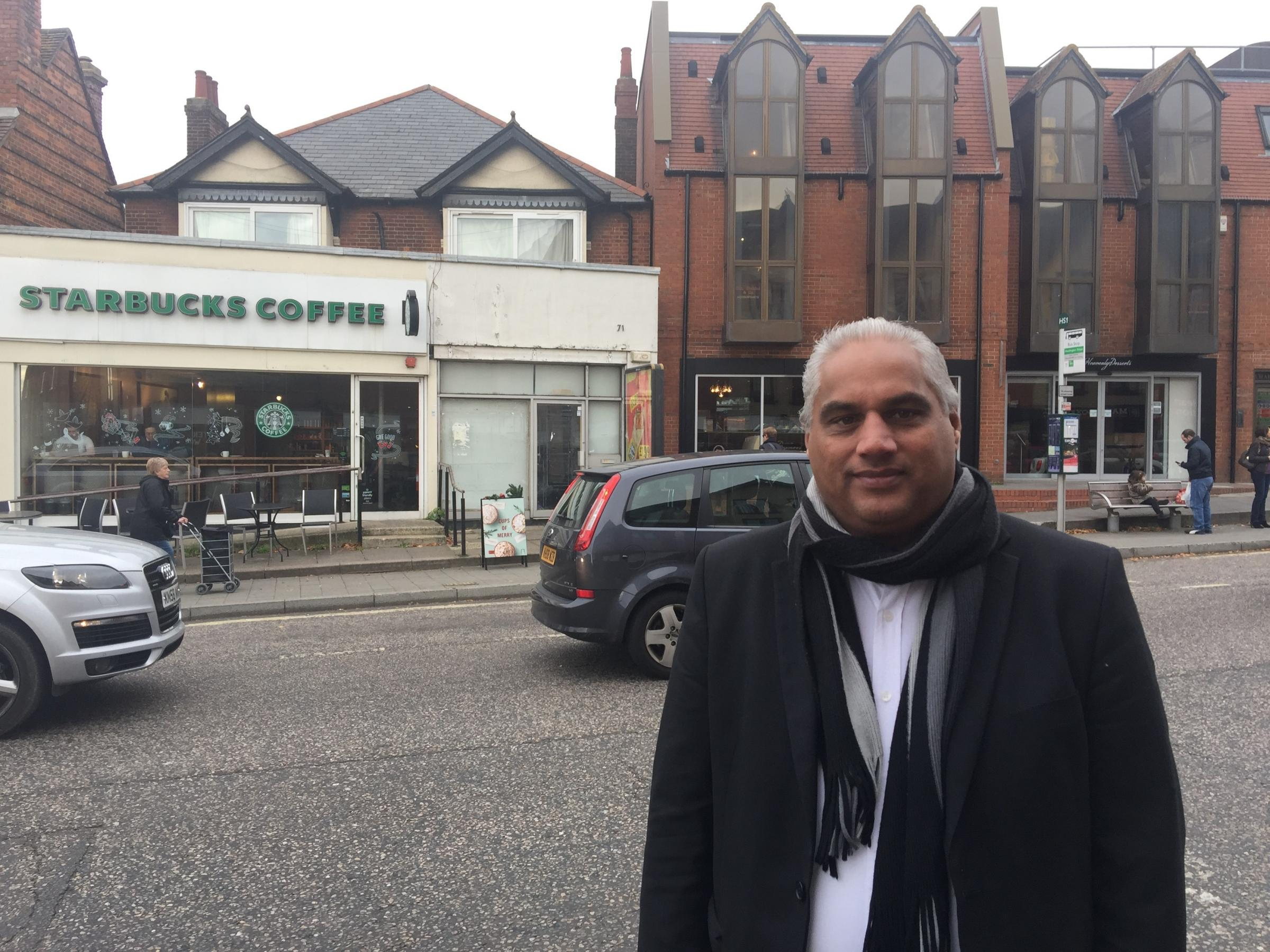 PLANS: Altaf - Khan on Headington high street by number 71 on London Road, which is an empty unit they're hoping with entice newcomers to the area and the forum.