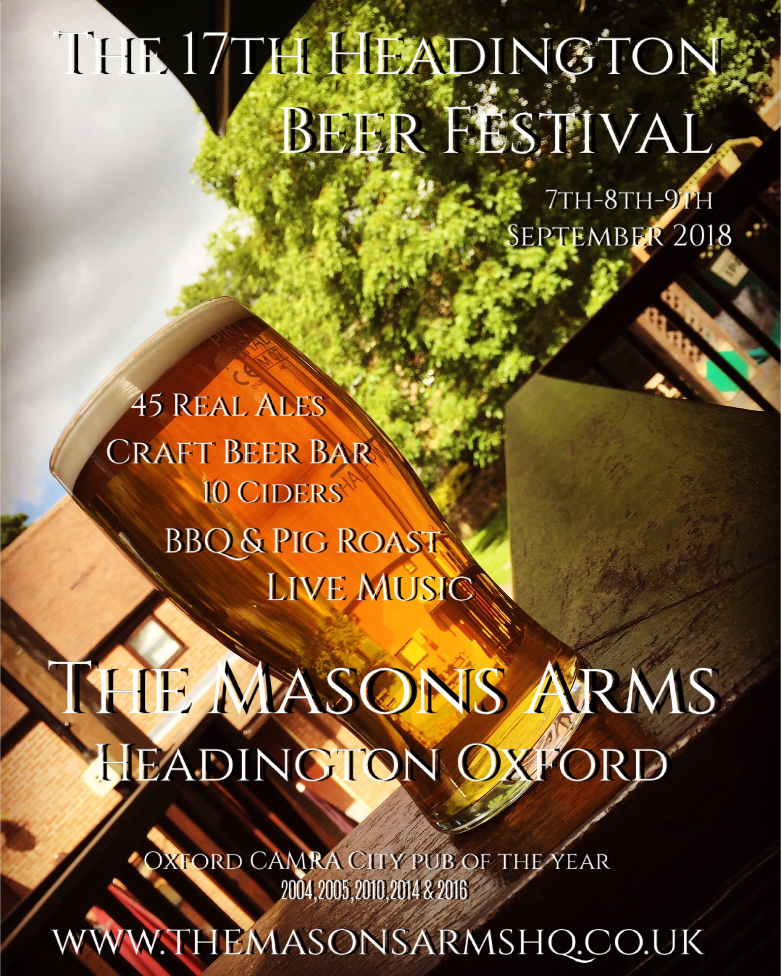 The 17th Headington Beer Festival