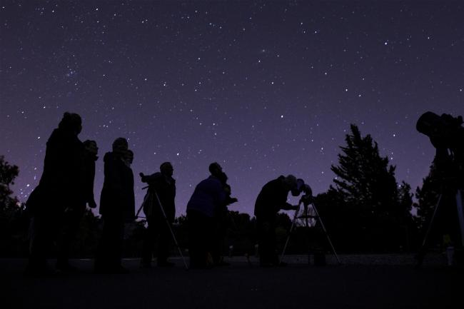 File photo of a stargazing event