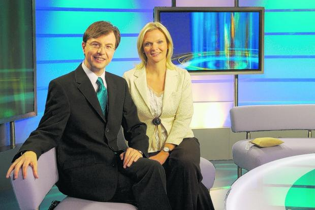 PEOPLE'S FAVOURITES: Wesley Smith and co-host Mary Green in the Thames Valley Tonight studio