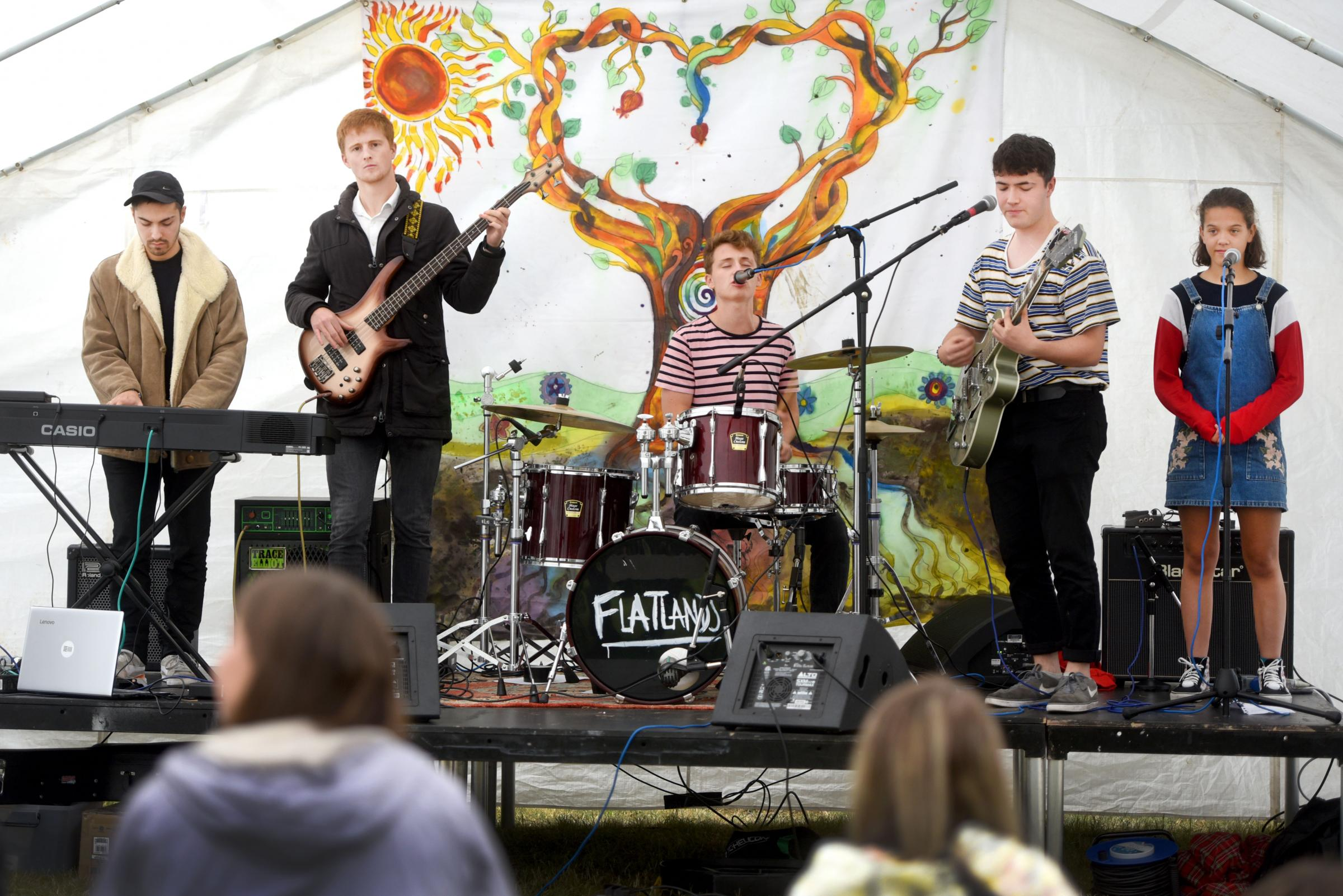 A recent fundraiser for the Wolvercote Young People's Club, where 'Flatlands' performed. Picture: Richard Cave