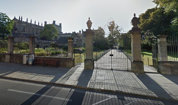 The entrance to Christ Church Memorial Gardens in Oxford. Pic: Google Maps
