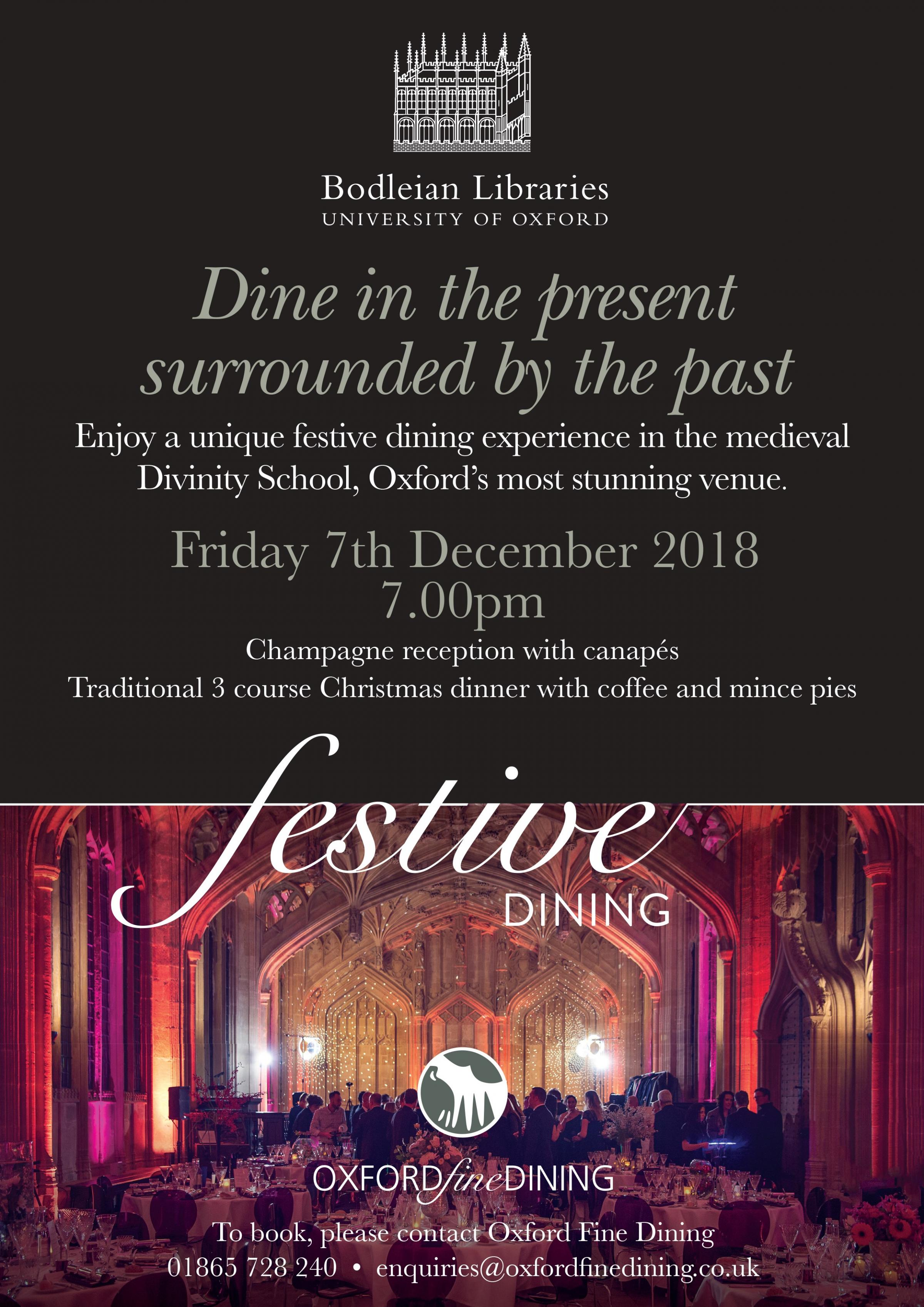 Festive Dining Experience at the Bodleian Libraries