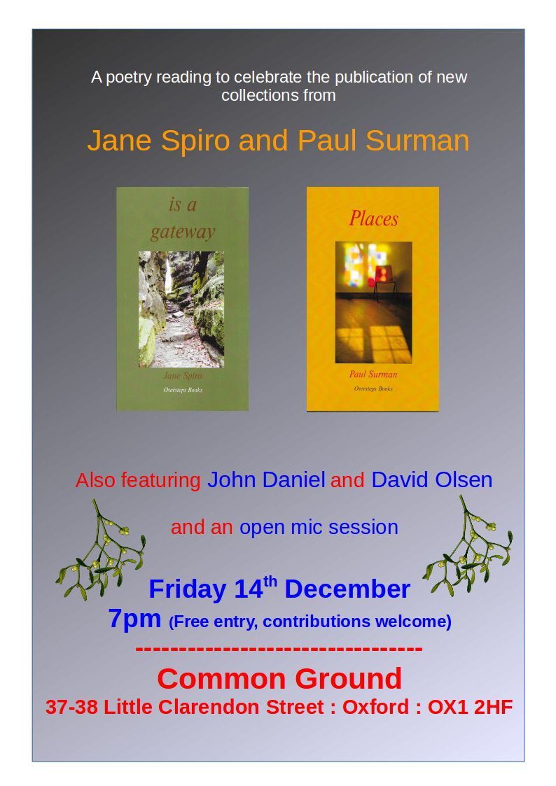 Poetry Reading by Jane Spiro & Paul Surman