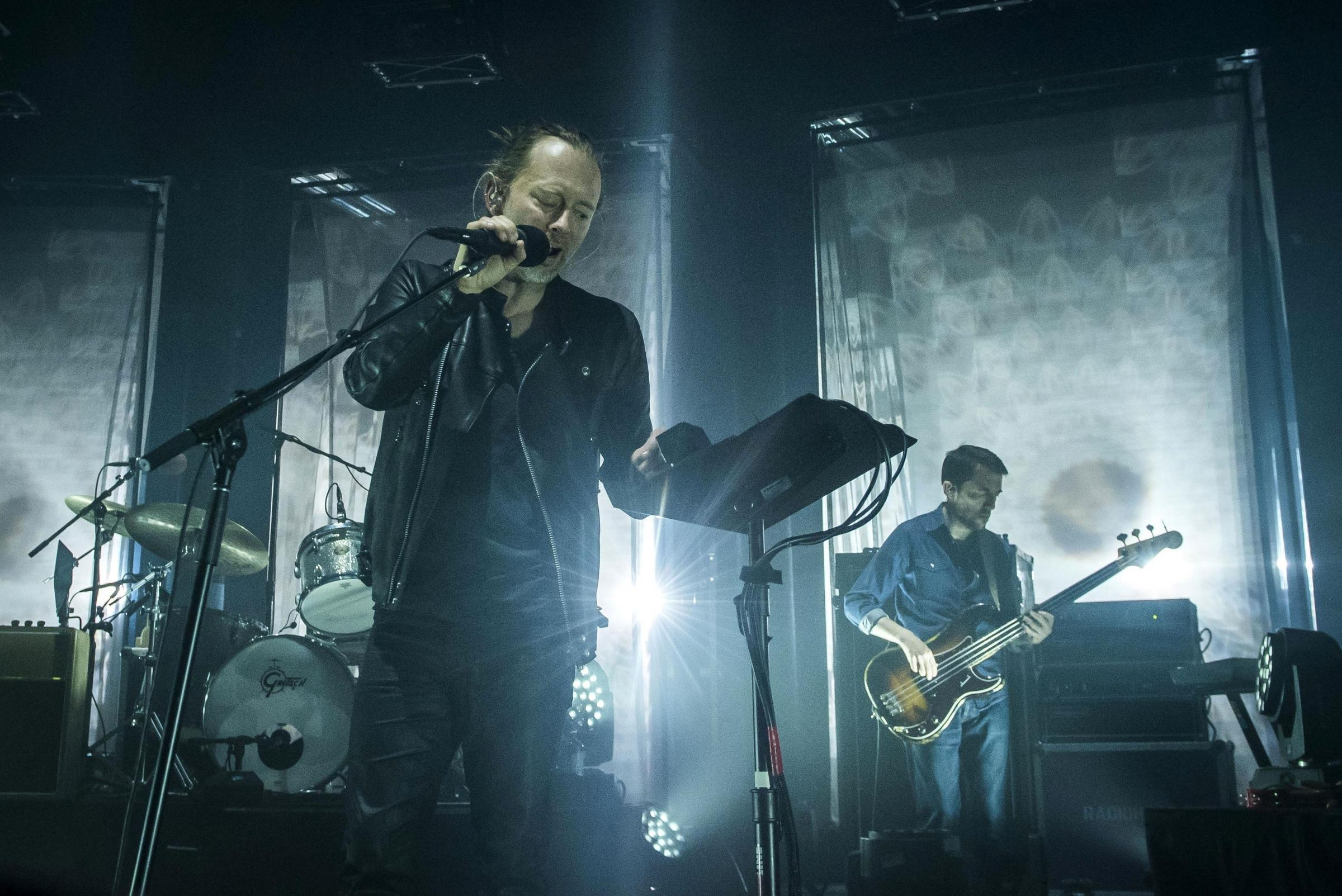 Radiohead perform on stage at the Roundhouse, in Chalk Farm, London. PRESS ASSOCIATION Photo. Picture date: Thursday May 26, 2016. Photo credit should read: David Jensen/PA Wire.