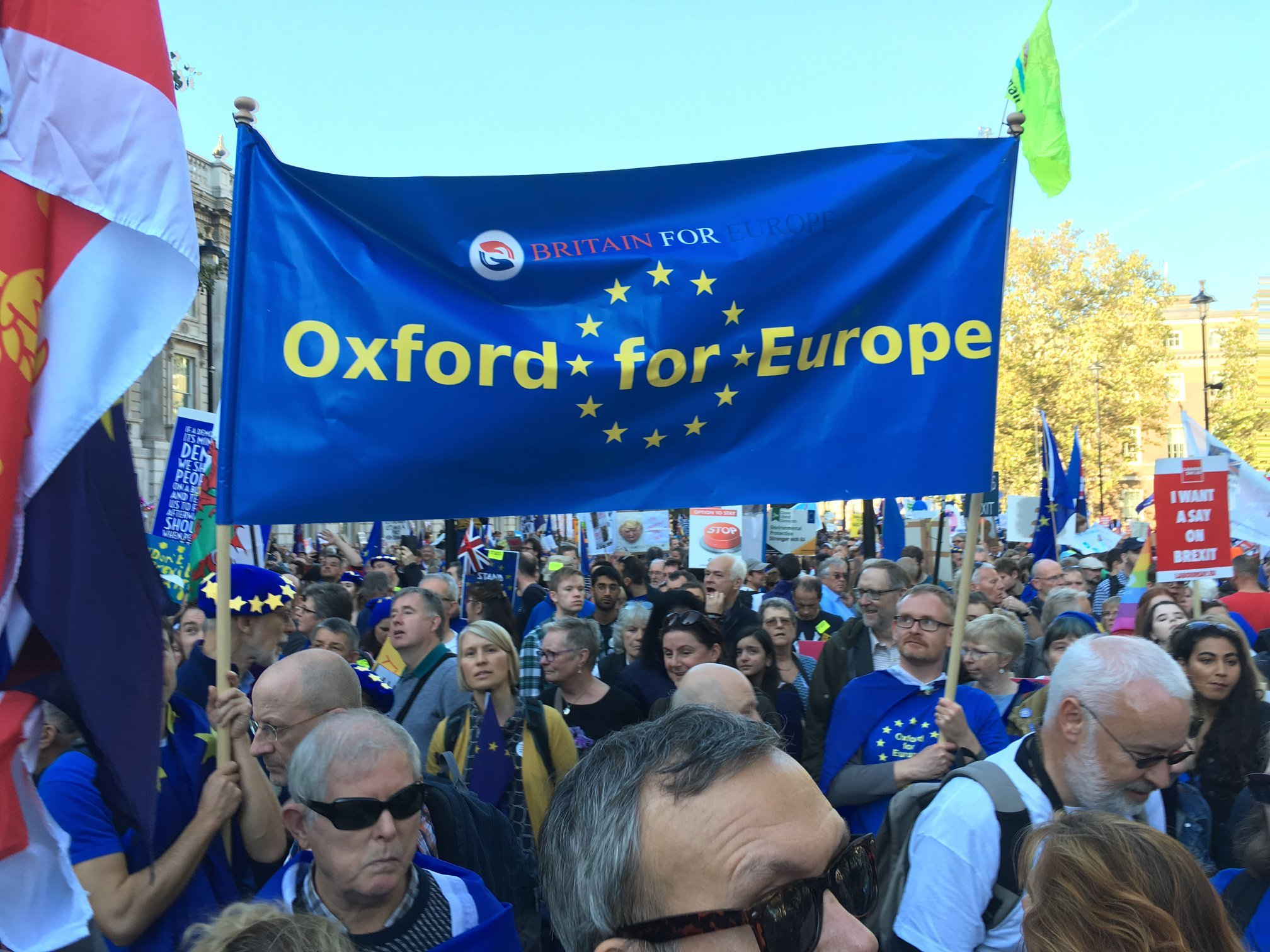 Oxford For Europe protest