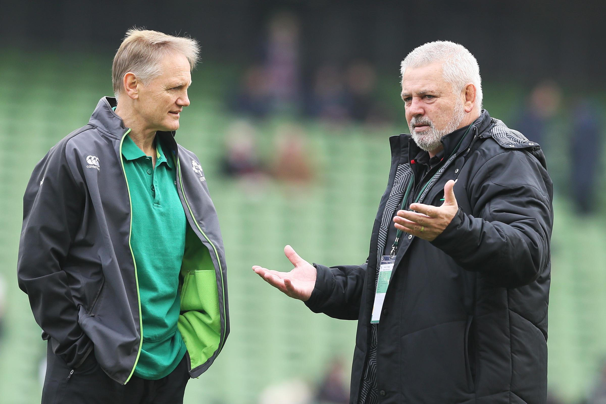 Ireland boss Joe Schmidt, left, and Wales coach Warren Gatland