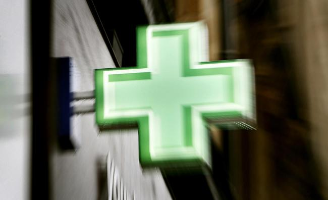 Stock image of a pharmacy logo. Picture: Danny Lawson/PA Wire