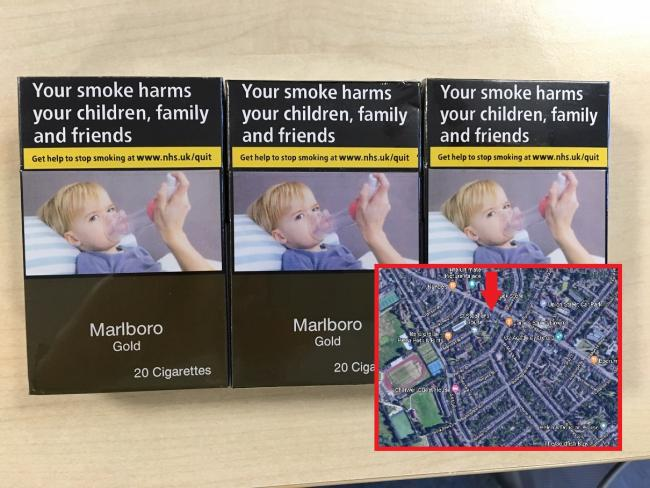 Fake cigarettes seized at a previous investigation. Photo: Oxfordshire County Council