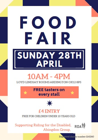 Food Fair: Ardington; Supporting Riding for the Disabled Abingdon Group