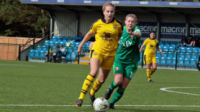 Ellie Noble's terrific strike put Oxford United into the lead against Cardiff City Picture:  Darrell Fisher