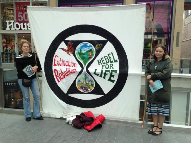 Extinction Rebellion campaigners at Westgate by Erin Lyons