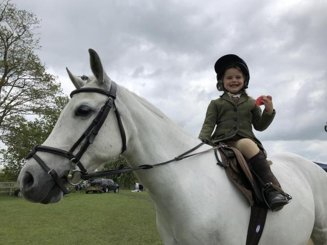 Mila Henderson enjoys Tackley Horse Show 				  Picture by Stan Skarzynski