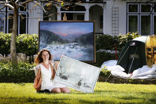 Adventurer and artist Leila Javadi-Babreh has been nominated to be Wildlife Artist of the Year. Picture: Ed Nix
