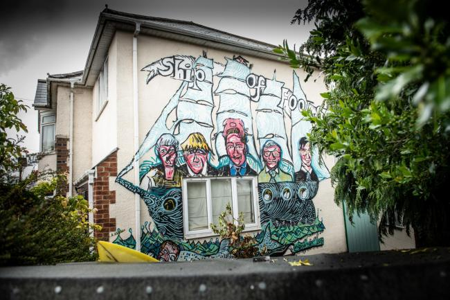 Anti-Conservative mural in Westbury Crescent, Rose Hill. Picture: Richard Cave
