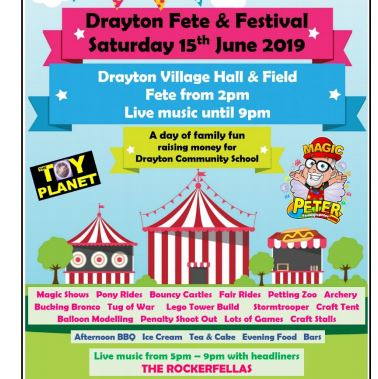 Drayton Village Fete (rain or shine!)